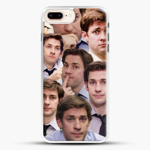 Jim Makes The Face iPhone 8 Plus Case, White Rubber Case | JoeYellow.com