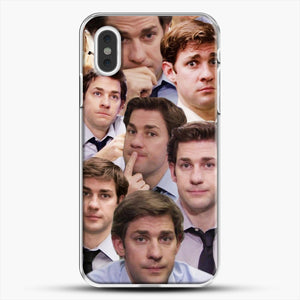 Jim Makes The Face iPhone XS Max Case, White Plastic Case | JoeYellow.com