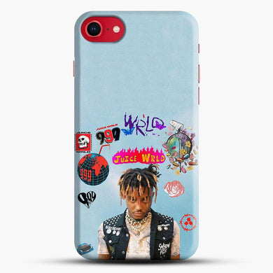Juice Wrld Collage Cool Blue Background iPhone 8 Case, Snap 3D Case | JoeYellow.com