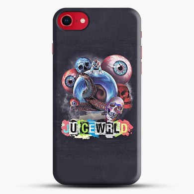 Juice Wrld Collage Grey Wallpaper iPhone 8 Case, Snap 3D Case | JoeYellow.com