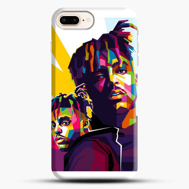 Juice Wrld Pinting Rainbow iPhone 7 Plus Case, Snap 3D Case | JoeYellow.com