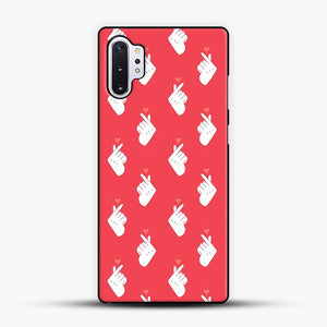 K Pop Hand Heart Saranghae Red Color Samsung Galaxy Note 10 Plus Case