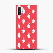 Load image into Gallery viewer, K Pop Hand Heart Saranghae Red Color Samsung Galaxy Note 10 Plus Case