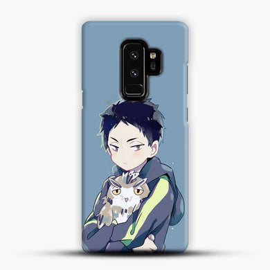 Karasuno High Haikyuu Ships Samsung Galaxy S9 Plus Case, Black Snap 3D Case | JoeYellow.com