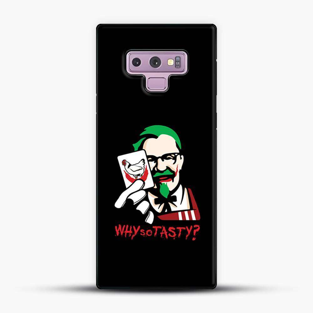 Kfc Logo Why So Tasty Samsung Galaxy Note 9 Case, Black Plastic Case | JoeYellow.com
