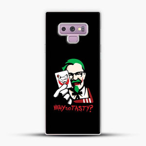 Kfc Logo Why So Tasty Samsung Galaxy Note 9 Case, White Plastic Case | JoeYellow.com