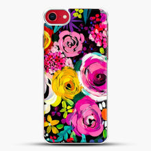 Load image into Gallery viewer, Les Fleurs Vibrant Floral Painting Print iPhone 7 Case, White Plastic Case | JoeYellow.com