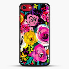 Load image into Gallery viewer, Les Fleurs Vibrant Floral Painting Print iPhone 7 Case, Black Rubber Case | JoeYellow.com