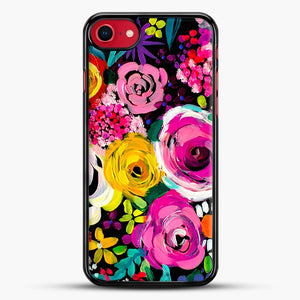Les Fleurs Vibrant Floral Painting Print iPhone 7 Case, Black Rubber Case | JoeYellow.com