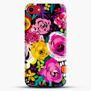 Les Fleurs Vibrant Floral Painting Print iPhone 7 Case, Black Snap 3D Case | JoeYellow.com
