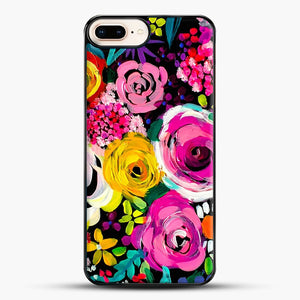 Les Fleurs Vibrant Floral Painting Print iPhone 7 Plus Case, Black Plastic Case | JoeYellow.com