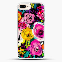 Load image into Gallery viewer, Les Fleurs Vibrant Floral Painting Print iPhone 7 Plus Case, White Rubber Case | JoeYellow.com