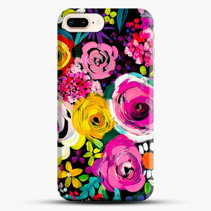 Les Fleurs Vibrant Floral Painting Print iPhone 7 Plus Case, Black Snap 3D Case | JoeYellow.com