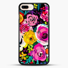 Load image into Gallery viewer, Les Fleurs Vibrant Floral Painting Print iPhone 8 Plus Case, Black Rubber Case | JoeYellow.com