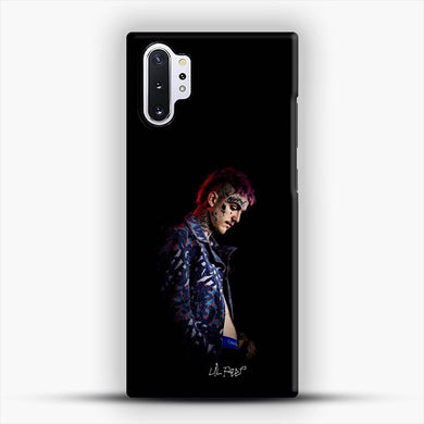 Lil Peep Black Background Samsung Galaxy Note 10 Plus Case, Snap 3D Case | JoeYellow.com