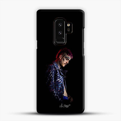 Lil Peep Black Background Samsung Galaxy S9 Plus Case, Snap 3D Case | JoeYellow.com