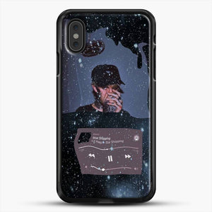 Lil Peep Star Shopping iPhone XS Max Case, Black Rubber Case | JoeYellow.com