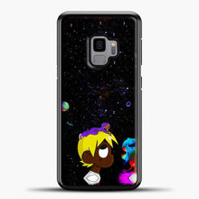 Load image into Gallery viewer, Lil Uzi Vert Black Galaxy Background Samsung Galaxy S9 Case, Black Rubber Case | JoeYellow.com