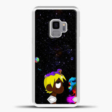 Load image into Gallery viewer, Lil Uzi Vert Black Galaxy Background Samsung Galaxy S9 Case, White Rubber Case | JoeYellow.com