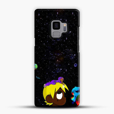 Lil Uzi Vert Black Galaxy Background Samsung Galaxy S9 Case, Black Snap 3D Case | JoeYellow.com