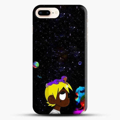Lil Uzi Vert Black Galaxy Background iPhone 7 Plus Case, Black Snap 3D Case | JoeYellow.com