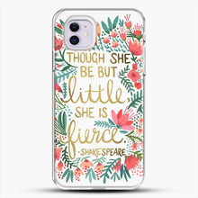 Load image into Gallery viewer, Little And Fierce iPhone 11 Case, White Plastic Case | JoeYellow.com