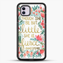 Load image into Gallery viewer, Little And Fierce iPhone 11 Case, Black Rubber Case | JoeYellow.com