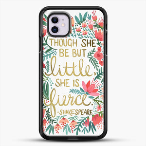 Little And Fierce iPhone 11 Case, Black Rubber Case | JoeYellow.com