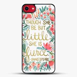 Little And Fierce iPhone 8 Case, Black Plastic Case | JoeYellow.com