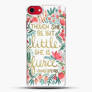 Little And Fierce iPhone 8 Case, White Plastic Case | JoeYellow.com