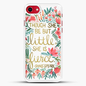 Little And Fierce iPhone 8 Case, White Rubber Case | JoeYellow.com