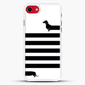 Long Dog iPhone 8 Case, White Rubber Case | JoeYellow.com