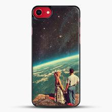 Load image into Gallery viewer, Love iPhone 8 Case, Black Plastic Case | JoeYellow.com