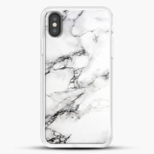 Load image into Gallery viewer, Marble White iPhone Case, White Rubber Case | JoeYellow.com