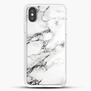 Marble White iPhone Case, White Rubber Case | JoeYellow.com
