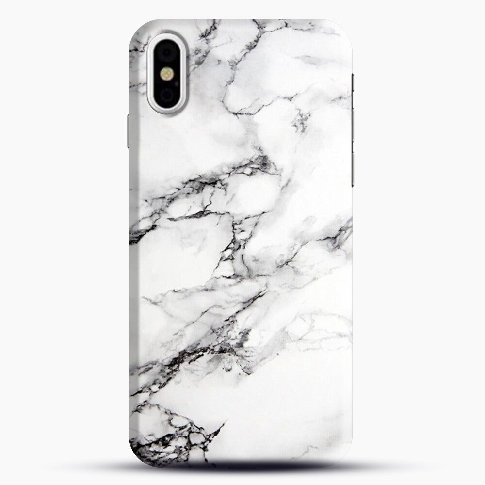 Marble White iPhone Case, Black Snap 3D Case | JoeYellow.com