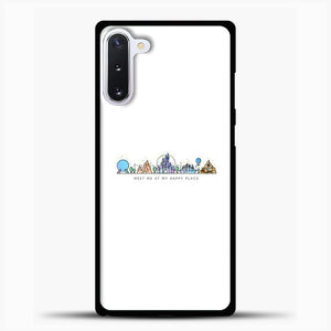 Meet Me At My Happy Place Vector Orlando Theme Park Illustration Samsung Galaxy Note 10 Case