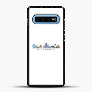 Meet Me At My Happy Place Vector Orlando Theme Park Illustration Samsung Galaxy S10 Case