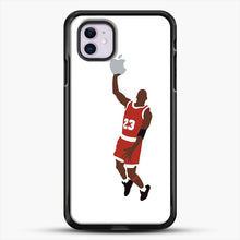 Load image into Gallery viewer, Michael Jordan Dunking An Apple iPhone 11 Case, Black Rubber Case | JoeYellow.com