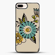 Load image into Gallery viewer, Mid Century Modern Flowers iPhone 7 Plus Case, Black Plastic Case | JoeYellow.com