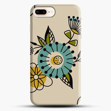 Load image into Gallery viewer, Mid Century Modern Flowers iPhone 7 Plus Case, Black Snap 3D Case | JoeYellow.com
