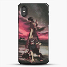 Load image into Gallery viewer, Midnight Itachi Shisui iPhone XS Case, Black Plastic Case | JoeYellow.com