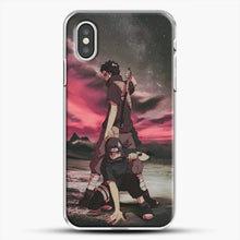 Load image into Gallery viewer, Midnight Itachi Shisui iPhone XS Case, White Plastic Case | JoeYellow.com