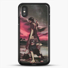 Load image into Gallery viewer, Midnight Itachi Shisui iPhone XS Case, Black Rubber Case | JoeYellow.com