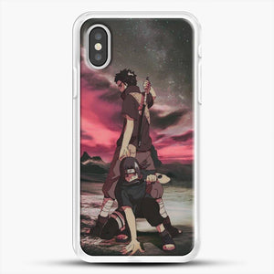 Midnight Itachi Shisui iPhone XS Case, White Rubber Case | JoeYellow.com