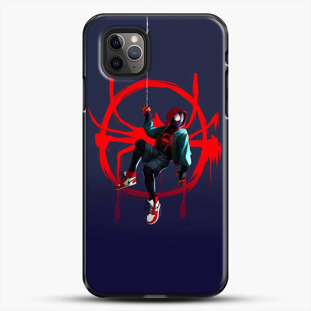 Miles Morales Jump Cool Spiderman iPhone 11 Pro Max Case, Black Plastic Case | JoeYellow.com