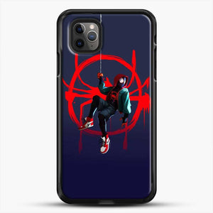 Miles Morales Jump Cool Spiderman iPhone 11 Pro Max Case, Black Rubber Case | JoeYellow.com