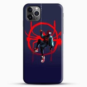 Miles Morales Jump Cool Spiderman iPhone 11 Pro Max Case, Black Snap 3D Case | JoeYellow.com