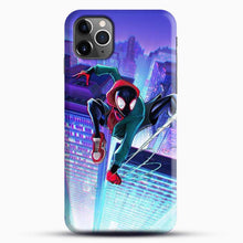Load image into Gallery viewer, Miles Morales Jump Midnight City iPhone 11 Pro Max Case, Black Snap 3D Case | JoeYellow.com