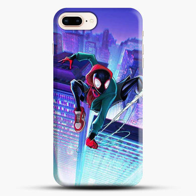 Miles Morales Jump Midnight City iPhone 7 Plus Case, Black Snap 3D Case | JoeYellow.com
